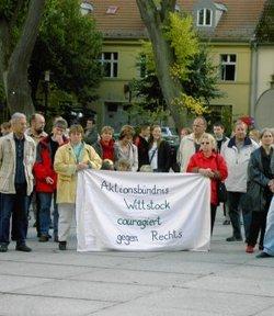 Wittstocker Bürgeriniative gegen Rechts (Foto: Opferperspektive)