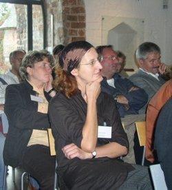 Judith Porath von der Opferperspektive im September 2006 in Wittstock (Foto: Aktionsbündnis)