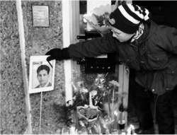 Gedenken an Farid Guendoul in Guben (Foto: Christian Ditsch)