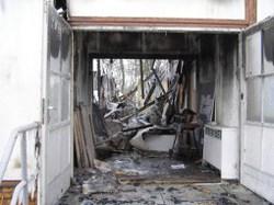 Das niedergebrannte »Haus der Demokratie« in Zossen