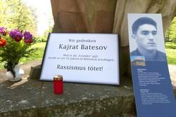 Gedenken an Kajrat Batesov, 2002 von Rechten in Wittstock erschlagen (Foto: Opferperspektive)