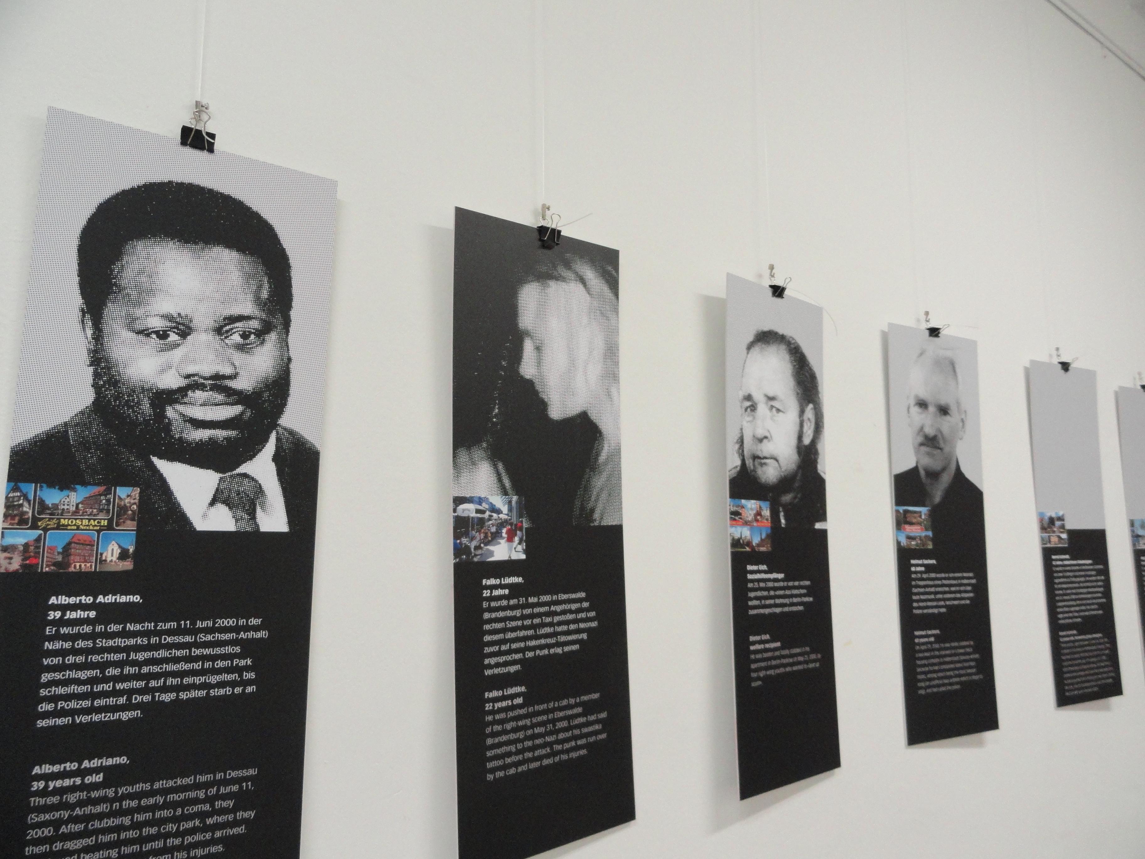 Ausstellung »Opfer rechter Gewalt«
