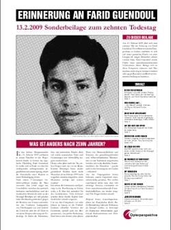 Zeitungsbeilage zum zehnten Todestag von Farid Guendoul
