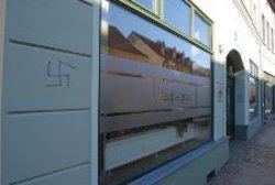 Hakenkreuz-Schmiererei in Zossen
