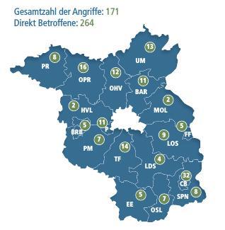 Rechte und Rassistische Angriffe im Jahr 2017 in Brandenburg