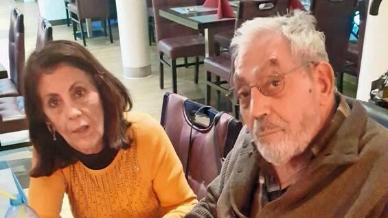 Orazio Giamblanco und seine Lebensgefährtin Angelica Stavropolou in Bielefeld.Foto: Frank Jansen